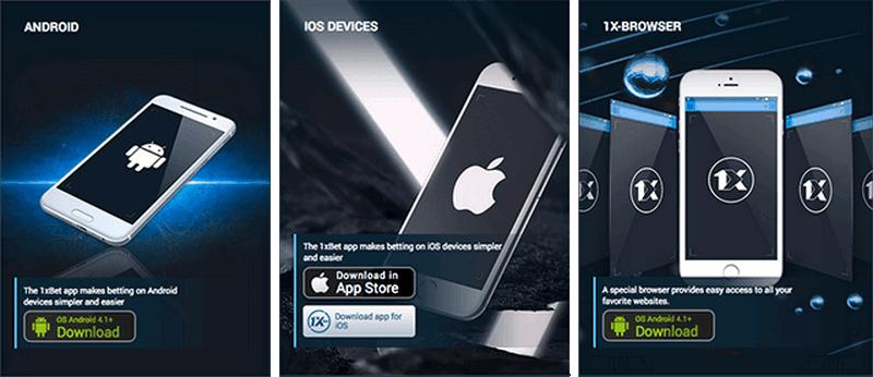 1xBet app Windows phone